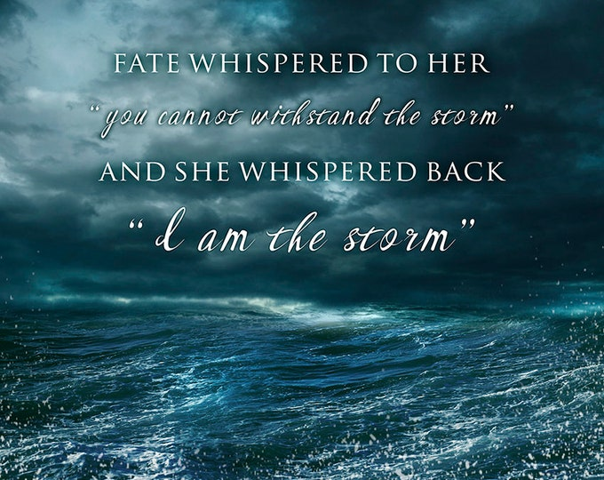 """motivational quote print inspiring quote art """"stormy seas"""""""