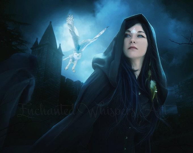 Pagan Druid woman fantasy art print