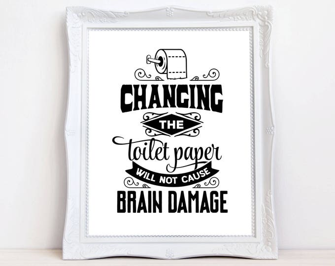 funny quote bathroom print