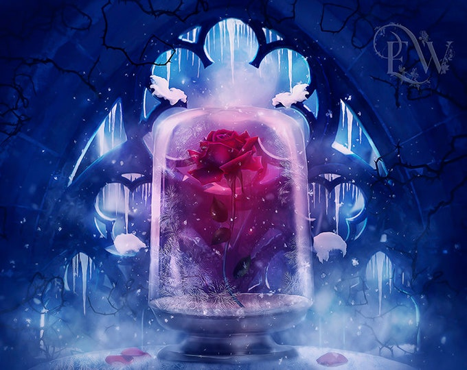 Beauty and the Beast rose art print
