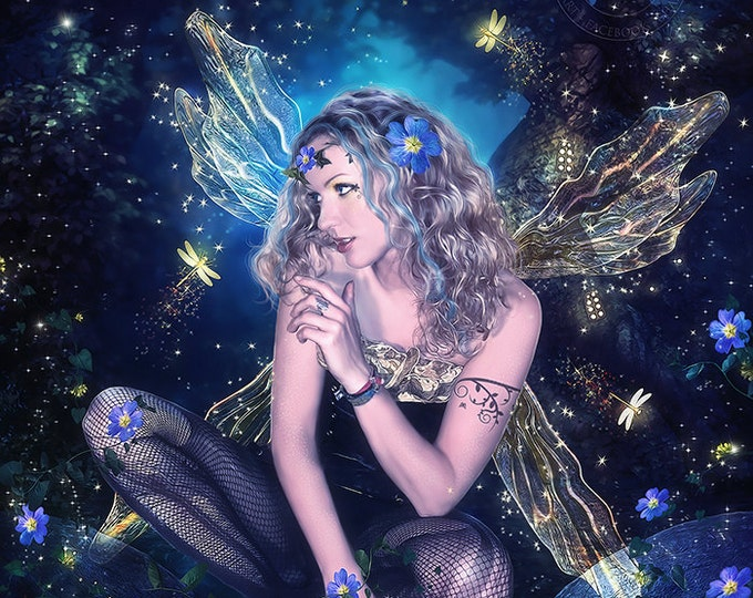 fantasy fairy wall art print by Enchanted Whispers