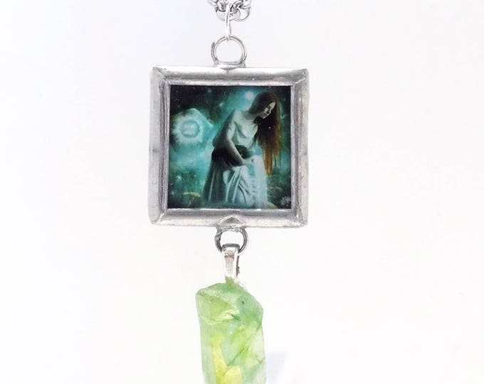 Aqurius art necklace
