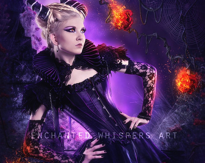 fantasy deomon woman art print