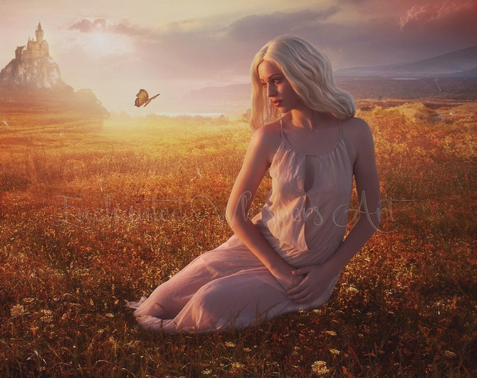 Fantasy Princess art print by Enchanted Whispers