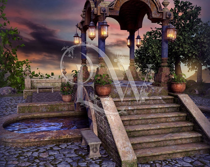 digital fantasy background, photo compositing, Photoshop background, photography
