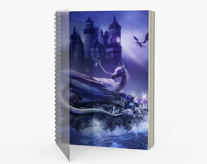 dragon art notebook, journal or sketchbook various paper options
