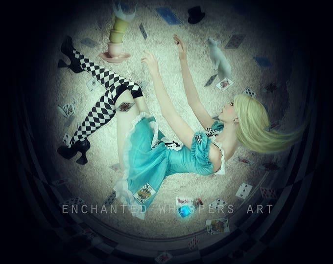 Gothic Alice in Wonderland dark fairytale art print
