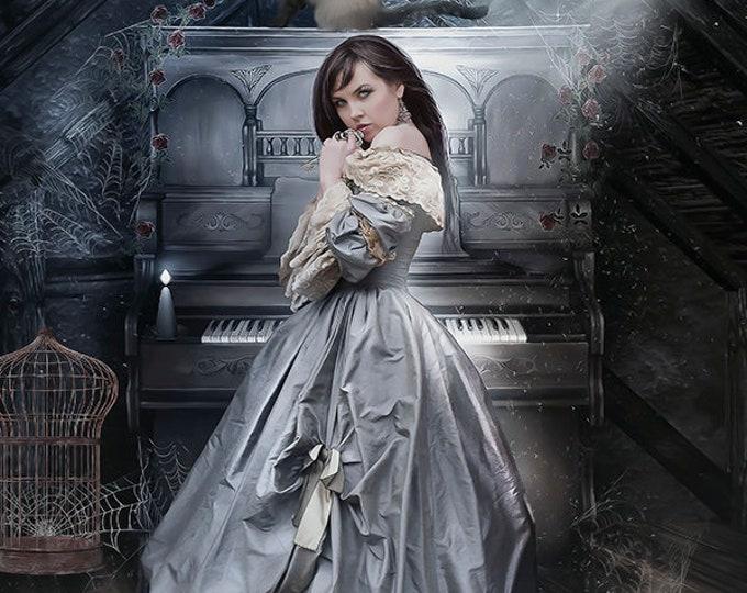 Victorian fantasy woman art print