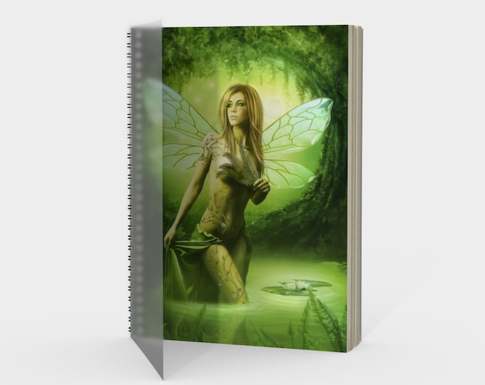 fantasy fairy notebook journal with spiral binding
