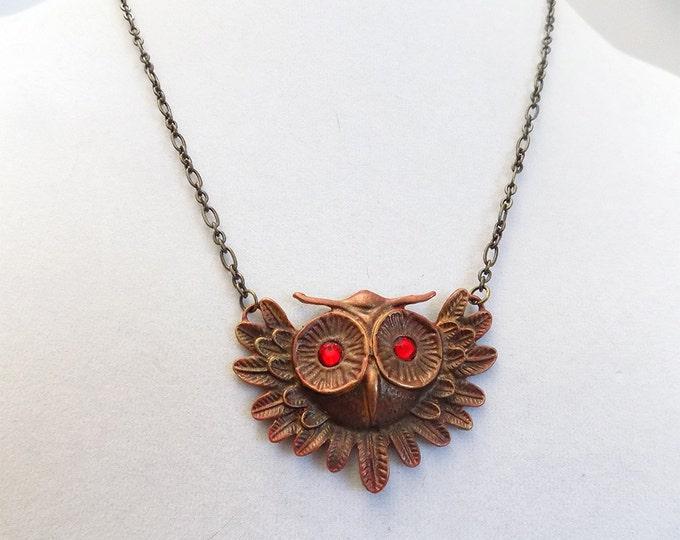 handmade owl necklace