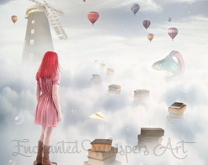 Surreal fantasy art print by Enchanted Whispers