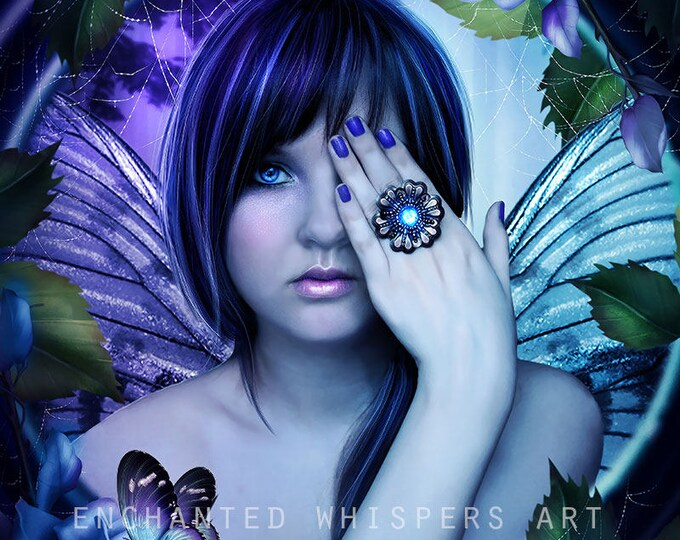 Fantasy fairy portrait art print by Enchanted Whispers