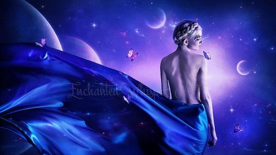 fantasy cosmos surreal fantasy woman art print