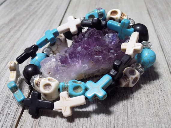 day of the dead handmade bracelets