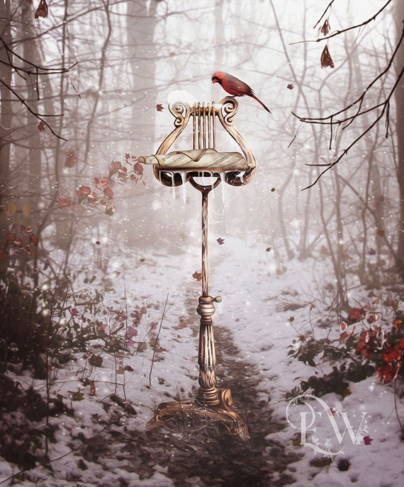 winter music stand art print by Enchanted Whispers