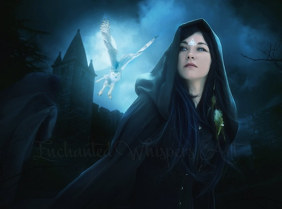Pagan Druid woman fantasy art print