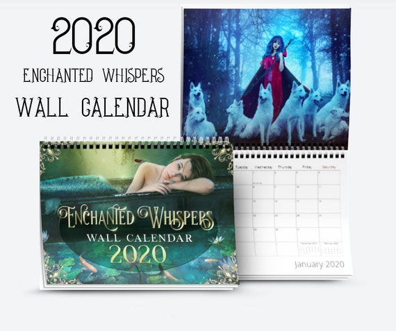 2020 Enchanted Whispers fantasy art wall Calendar
