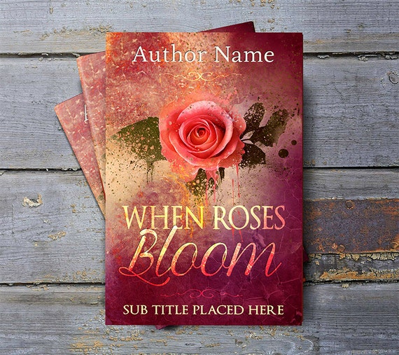 Book cover designPremade cover design pink rose