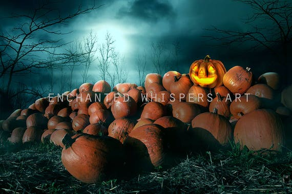 Halloween Pumpkins Photoshop background