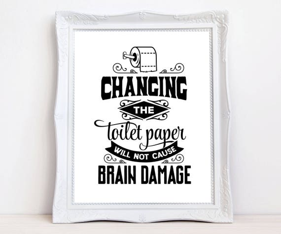 funny quote bathroom print