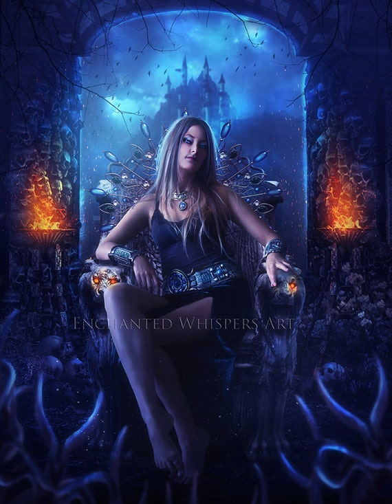 dark fantasy Queen print