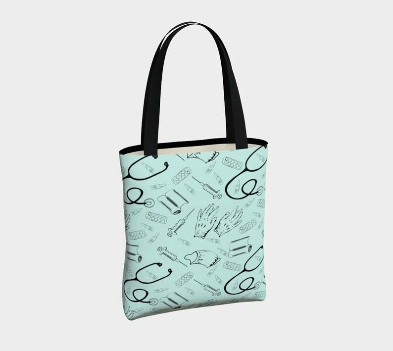 Doctor Tote Bag Nurses Tote Nurse Pattern Medical Tote Bag Etsy