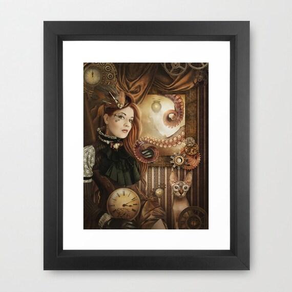 Brown Skin Steampunk Fantasy Art