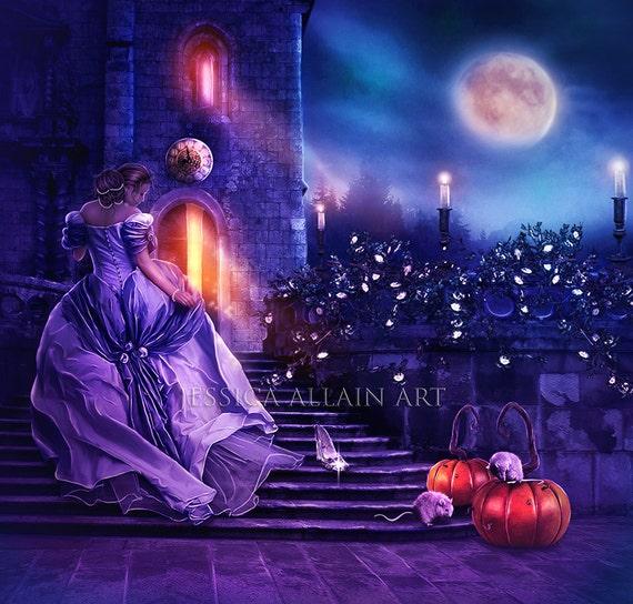 Cinderella fantasy woman art print