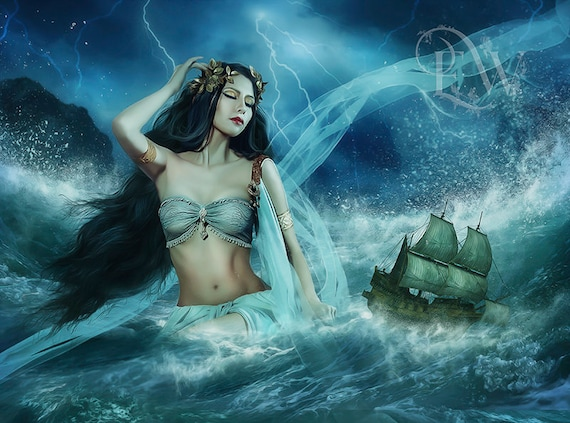 Greek Goddess Calypso fantasy art print by Enchanted Whispers