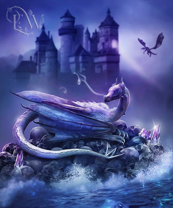 fantasy dragon art print by Enchanted Whispers