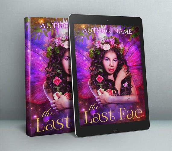 premade book cover art with fantasy fairy portrait