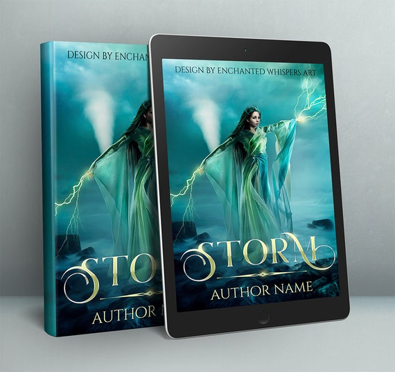 premade paranormal fantasy book cover design