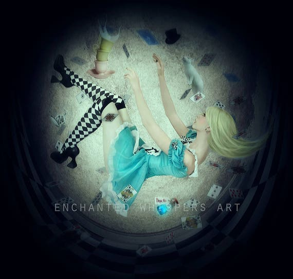 Gothic Alice in Wonderland dark fairytale art print