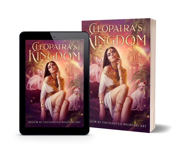 fantasy premade book cover art, Cleopatra Ancient Egypt cover design