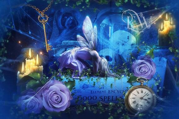 Whimsical dark Goth fairy art print
