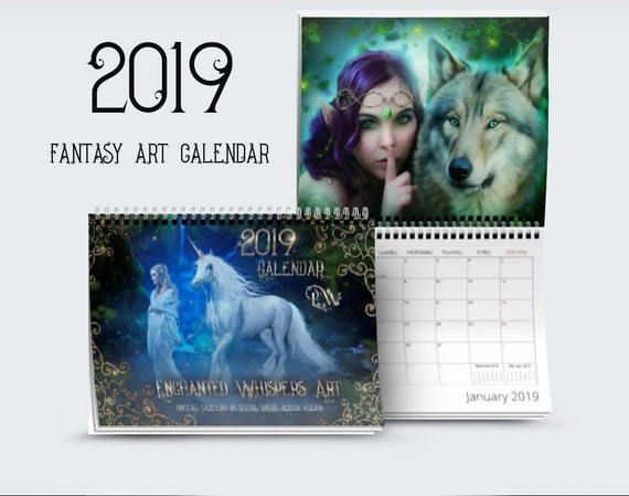 2019 fantasy art Calendar by Enchanted Whispers