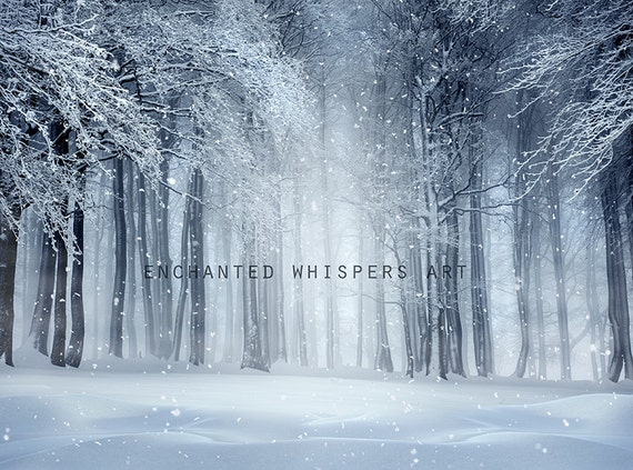 winter landscape photoshop background