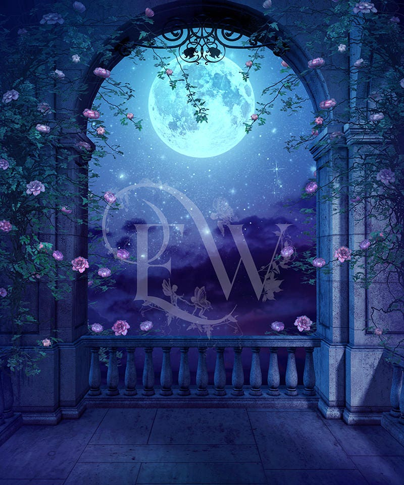 Digital Fantasy Background Romantic Castle Photo Editing