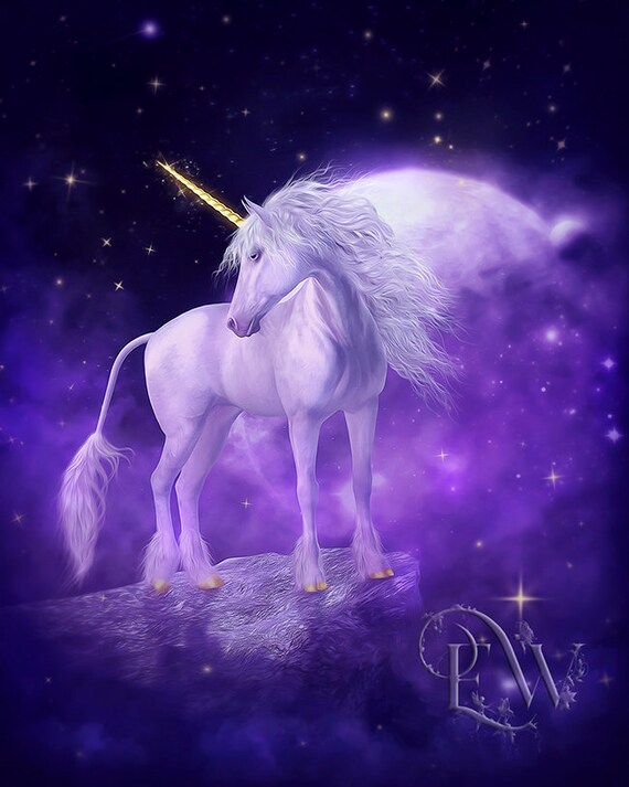 fantasy Unicorn art print