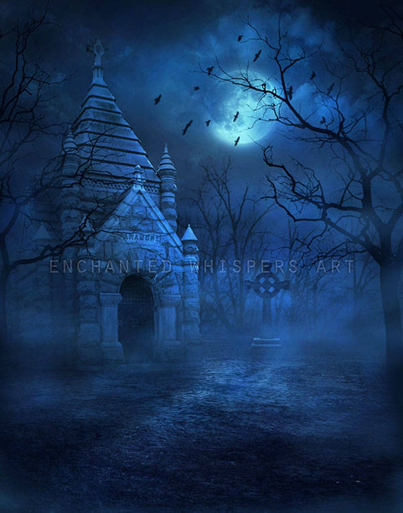 Photoshop background, Halloween backdrop, photography background, Gothic  backdrop, Cemetery background, digital background, premade backdrop