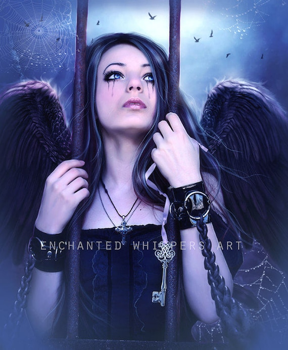 dark angel fantasy art print