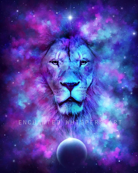 Leo Lion art print by Enchanted Whispers