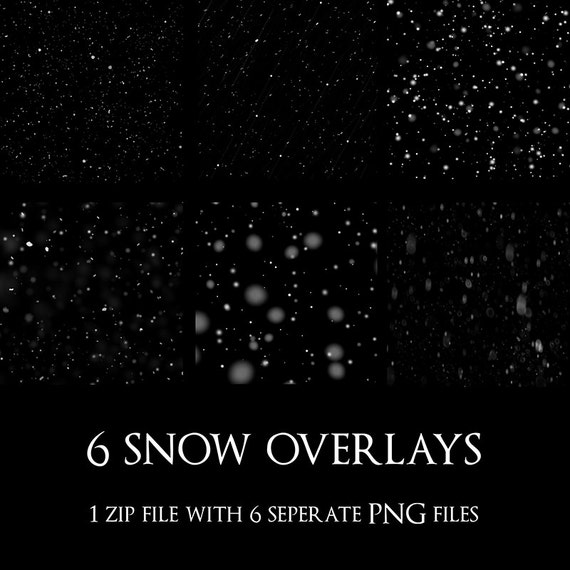 instant download snow overlays christmas overlays snow etsy