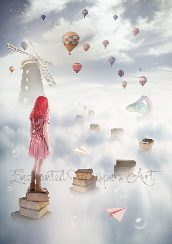 Surreal fantasy art print by Enchanted Whispers