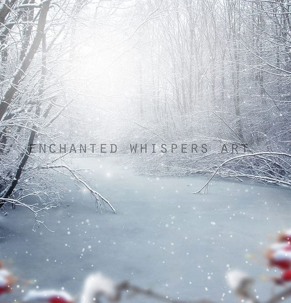 instant download winter snow background for Photoshop photography compositing