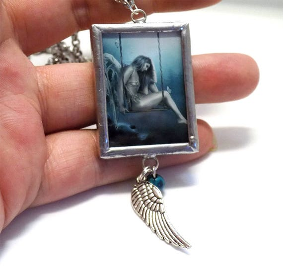 Angel art necklace
