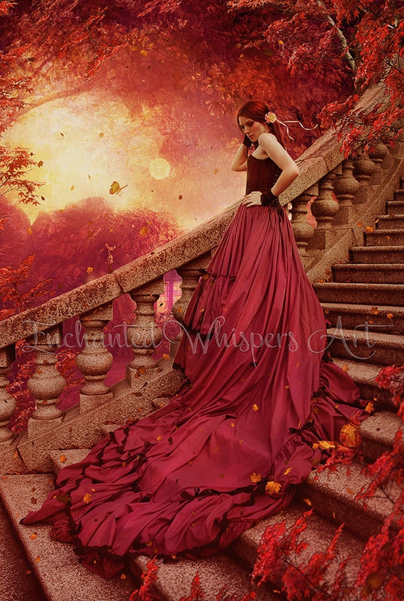 fairytale fantasy woman print by Enchanted Whispers