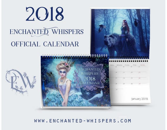 2018 Enchanted Whispers fantasy art Calendar