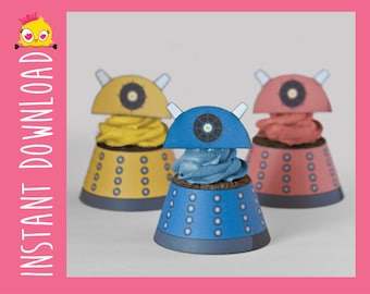 Dalek Inspired Cupcake Wrappers & Toppers PDF