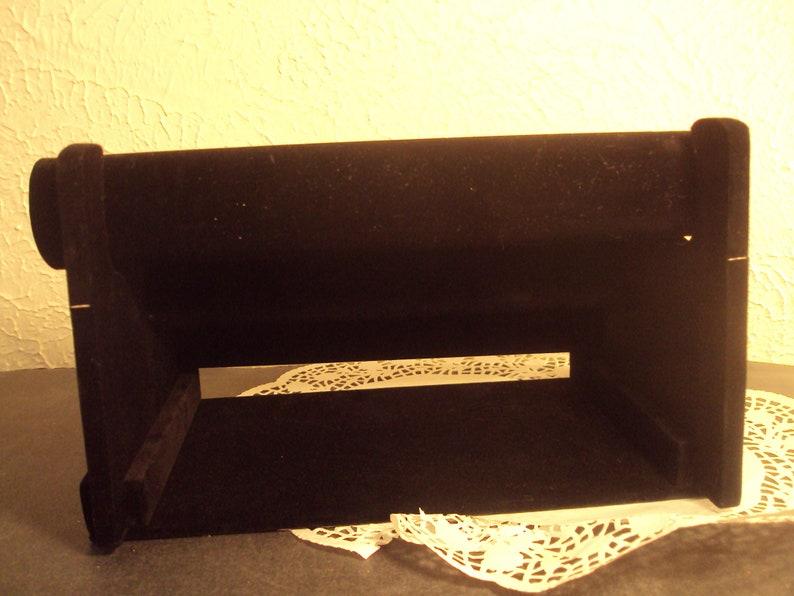 necklace organizer Velvet bracelet display jewelry holder 3 tier black velvet for bracelets watches